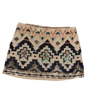 EXPRESS Multi- Colored Sequin Skirt!